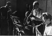 Kultureller Alltag der Nachkriegszeit: Live-Konzerte von Jazzbands in den Radiosendern (hier Radio Munich). Foto: BR, Historisches Archiv