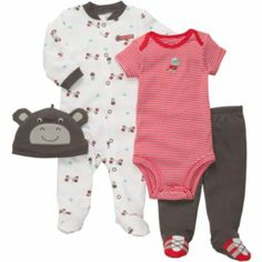Carter's® 4-pc. Rhino Layette Set - Boys newborn-9m