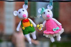 Описание мышей крючком, описание, подарки, мышки, crochet, crochet toy, knitted, Алла Черноус, Амигуруми, Мои МК, Мышка,