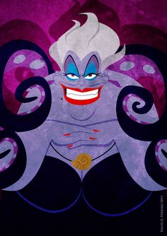 Ursula, the Sea Witch from the Little Mermaid Ursula Disney Amor, Ursula Disney, Film Disney, Disney Little Mermaids, Arte Disney, Disney Love, Disney Magic, The Little Mermaid, Disney Stuff