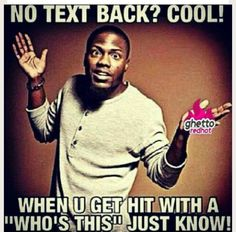 No text back?