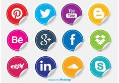 Resultado de imagen de social media vectores