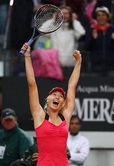 Maria Sharapova wins Italian Open in Rome on Sunday, 5/20