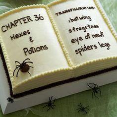 Book of Spells Cake. A great idea for a Halloween dessert. #Treats #Desserts