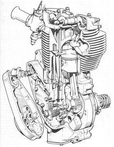 111 best engine cutaways images motorcycle engine motorcycles 1968 Honda Ca77 bsa gold star cb 1954