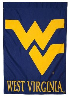 """West Virginia University Silk Screen Print Regular Sized Flag by Team Sports America. $13.49. Double-sided. Hand-crafted with soft high quality nylon fabric. 28"""" x 44"""". Fade-resistant. 28""""W x 40""""H Screen Print Flag. Polyester with silkscreen artwork. Top and bottom word sections are double sided.. Save 59%!"""
