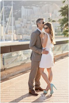 Engagement photography in Monaco | Photography © Katy Lunsford on French Wedding Style Blog