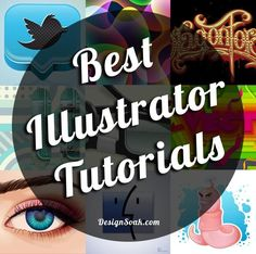 120 + top Illustrator tutorials, which include everything from vector Illustrator typography, to vector character design and learning Illustrator tools. Web Design, Graphic Design Tutorials, Tool Design, Graphic Design Inspiration, Design Art, Adobe Illustrator Tutorials, Photoshop Illustrator, Graphics, Drawing Tutorials