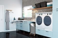 7 Home Interior That Has A Minimalist Laundry Room Home Decorating The concept of having a Home Interior That Has A Minimalist Laundry Room in the house is to save a lot of money on the laundry. In the past, people ha. Laundry Room Pictures, Laundry Room Bathroom, Laundry Rooms, Bathrooms, Room Wanted, Modern Kitchen Design, Vertical Storage, Decorating Your Home, Living Room Designs