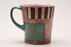 Earthenware Mug. Doug Peltzman from Etsy