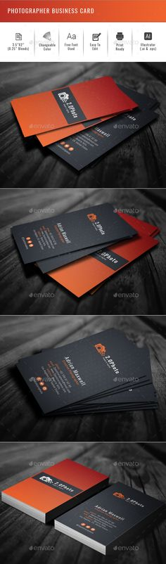Photographer #Business #Card - Creative Business Cards Download here: https://graphicriver.net/item/photographer-business-card/19949412?ref=alena994