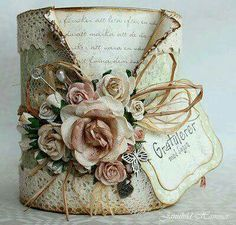 Amazing Ideas To Decoupage Tin Can Planters Tin Can Crafts, Crafts To Make, Paper Crafts, Diy Crafts, Creative Crafts, Shabby Chic Crafts, Vintage Crafts, Upcycled Vintage, Decoupage Tins