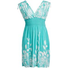jon & anna Turquoise Floral Tie-Sleeve Surplice Empire-Waist Dress ($15) ❤ liked on Polyvore featuring plus size women's fashion, plus size clothing, plus size dresses, plus size, empire waist dress, long-sleeve floral dresses, plus size turquoise dress, turquoise blue dress and long dresses