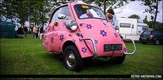 1958 Pink BMW Isetta bubble car