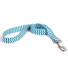 Chevron Dog Leash by Yellow Dog - Blueberry