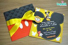 Convite com envelope - Mickey