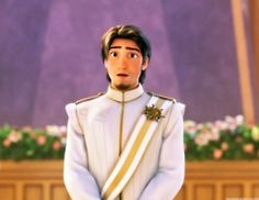 when he first sees rapunzel...
