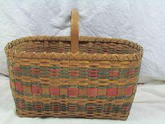 Penobscot Indian Picnic basket Black Ash splint/sweet grass hand painted -NICE!   See original listing      Item condition:Used  Ended:May 11, 201215:04:10 PDT  Winning bid:  US $40.00 [ 3 bids ]