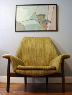 Adrian Pearsall style lounge chair - Like the chair design, dislike the color Mid Century Decor, Mid Century House, Mid Century Modern Design, Mid Century Modern Furniture, Home Decor Furniture, Cool Furniture, Lounge Chair, Style Lounge, Take A Seat