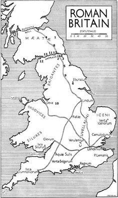 Map of Roman Britain Source by Our Reader Score[Total: 0 Average: Related photos:Isaac Newtonfig Manze's eel and pie shop, No. Ancient Rome, Ancient History, Map Of Great Britain, Britain Map, Celtic Nations, Map Quilt, Rome Antique, Roman Britain, Roman History