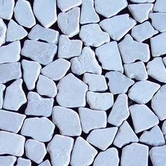 Tumbled Marble Mosaic Kuta White 12X12 Interlocking