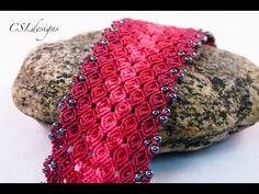 Rosebud micro macrame bracelet - YouTube