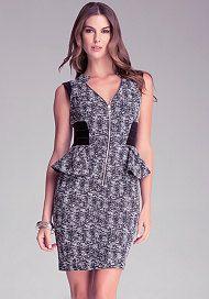 Chloe Tweed Peplum Dress