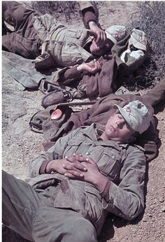 2. World war, North Arfica theater of war, german africa campaigngerman soldiers relaxing.1941/42