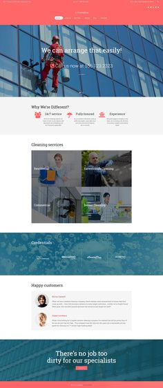 WordPress Theme , Crystalica - Window Cleaning