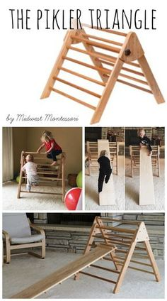 The Pikler triangle Pickler Triangle // Kids Climbing Toy // Gross Motor Skills The post The Pikler triangle appeared first on Toddlers Ideas. Playroom Montessori, Montessori Activities, Infant Activities, Activities For Kids, Montessori Baby Toys, Kid Playroom, Montessori Education, Playroom Design, Motor Activities