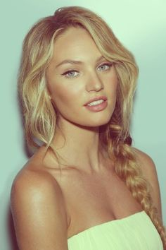 Candice swanepoel- Luke (my husband) said I have a similar face/nose/lips shape to her :-)