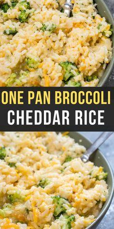 Creamy Broccoli Cheddar Rice - Maebells
