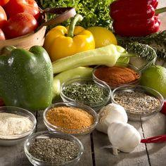 Fresh veggies. Sliced, chopped, and prepared fresh for you.