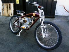 It has a motor and two wheels. Good enough for me. Seen at Joker Machine, more pics here