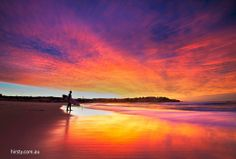 Sunrise on Bondi Beach,Australia
