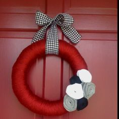 Alabama wreath I made. It turned out better than I expected!!