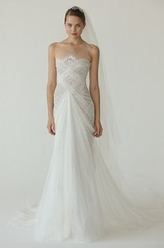 Body-Con Wedding Dress, Fitted, Designer Gowns || Colin Cowie Weddings
