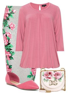 """""""Pinky Rose"""" by ohraee019 on Polyvore featuring Topshop, Zhenzi, Breckelle's and Dolce&Gabbana"""