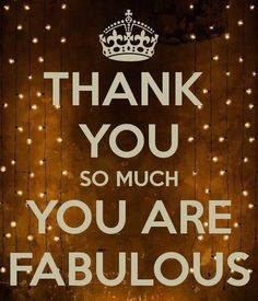 Thank you, you are fab!