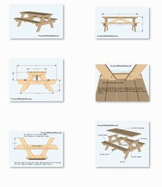 Picnic table plans, PDF download, material list, measurements, and DIY step-by-step detailed drawings. Build it yourself projects for picnic table. Build A Picnic Table, Diy Step By Step, Detailed Drawings, Place Card Holders, Pdf, Traditional, How To Plan, Projects, Style