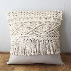 Items similar to Macrame Pillow Macrame Wall Hanging Patterns, Macrame Patterns, Diy Throw Pillows, Decorative Pillows, Boho Cushions, Crochet Decoration, Leather Pillow, Macrame Bag, Macrame Design