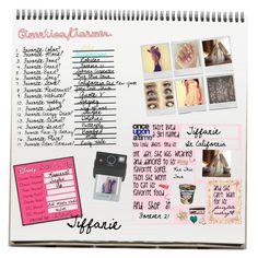"""Tiffanie's Notebook"" by tiffanieanna ❤ liked on Polyvore featuring art"