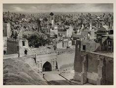 Windcatchers in Hyderabad 1933, creative commons.