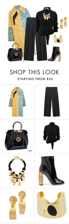 """""""outfit 5480"""" by natalyag ❤ liked on Polyvore featuring Acne Studios, Vince, Dasein, Victoria Beckham, Lizzie Fortunato and Dolce&Gabbana"""