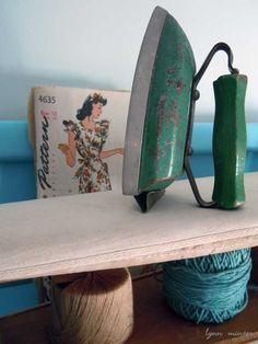 green toy iron