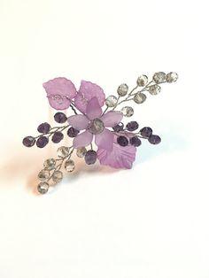 Purple Hair Pin Bridal, Wedding Hair Piece wedding hair accessories, hair pieces for wedding hair pins floral hair piece flower headpiece
