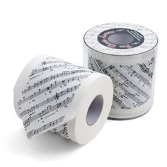 Delight your guests and proclaim your passion for music, even in the powder room! This two-ply toilet paper is as soft and gentle as a smooth serenade or romantic ballad.