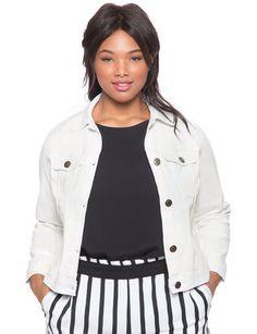 White Denim Jacket from eloquii.com