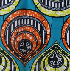 African wax prints are known for their vibrant colors and bold designs. These fabrics are 100 cotton and are the best quality available in West Africa! Traditional used for garments, this fabric is p African Textiles, African Fabric, African Prints, African Patterns, Ankara Fabric, Africa Art, West Africa, South African Flag, Art Therapy Projects