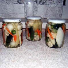Vegyes savanyúság Recept képpel - Mindmegette.hu - Receptek - Befőzés Mason Jars, Automata, Mason Jar, Glass Jars, Jars